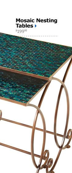 Mosaic Nesting Tables $199.95