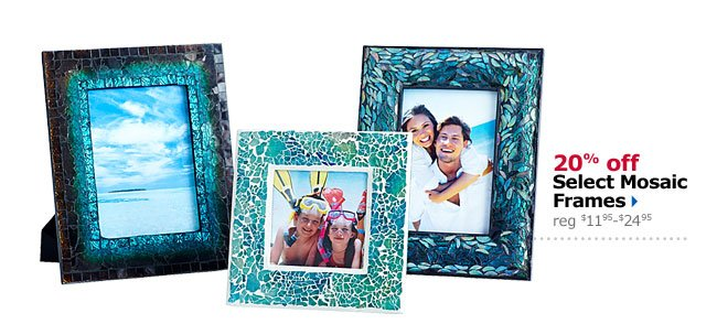 20% off Select Mosaic Frames
