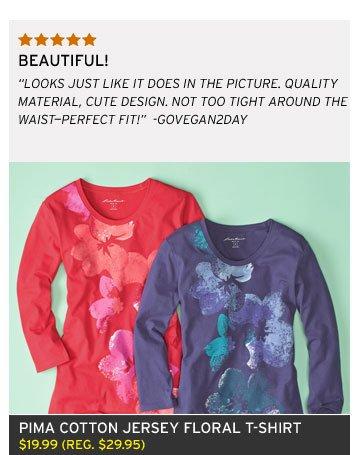 Pima Cotton Jersey Floral T-Shirt