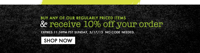 Receive 10% off your order!
