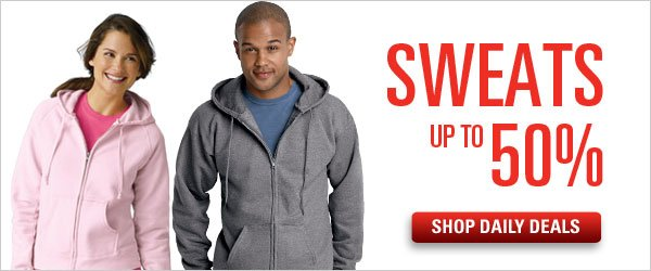 Sweats up to 50% off