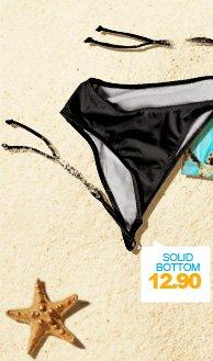 Shimmer Tie-Side Bikini Bottom