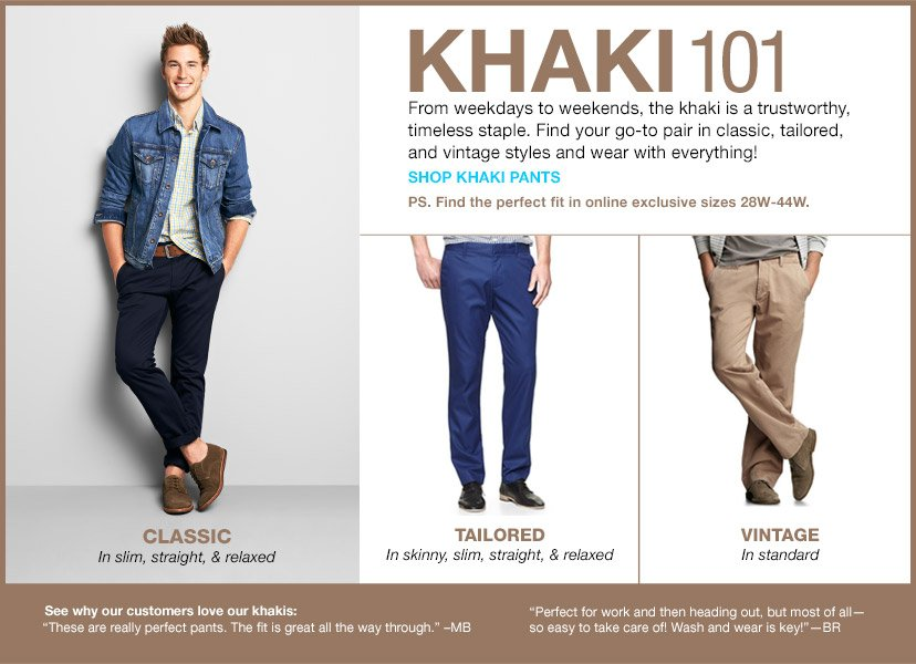 KHAKI 101 | SHOP KHAKI PANTS