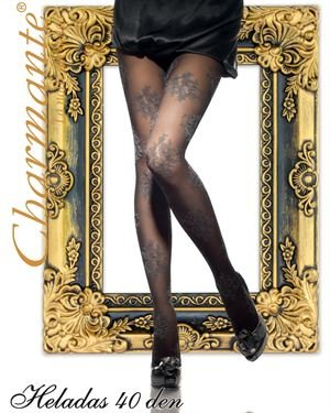Charmante Floral Pattern Hosiery Made In Italy