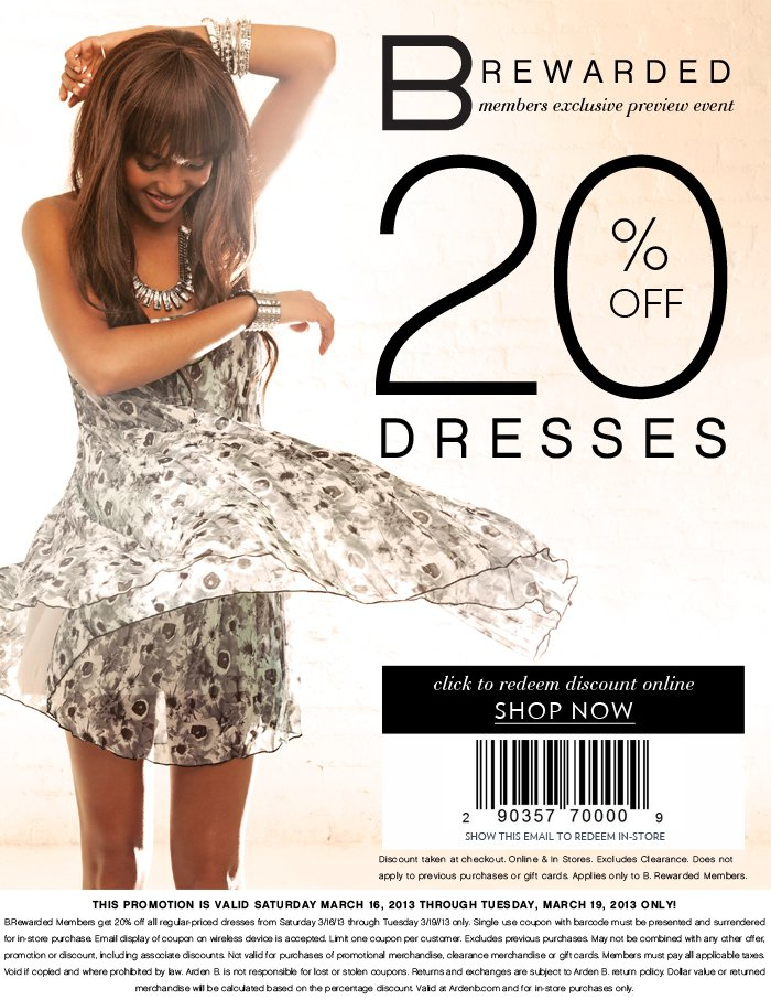 B. Rearded Customers Take 20% OFF Dresses | Exclusive Offer