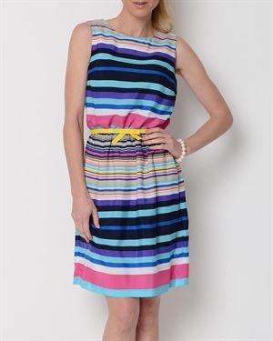 Shelby & Palmer Multicolor Stripe Printed Dress $22