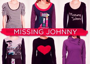 Missing Johnny Apparel for Her from $19