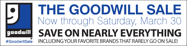 The Goodwill® Sale! Now through Saturday, March 30. Save on nearly everything, including  your favorite brands that rarely go on sale! Shop now.