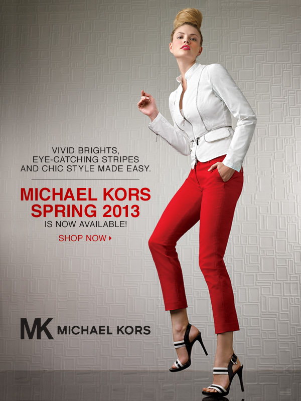 Vivid brights, eye-catching stripes and chic style made easy. Michael Kors Spring 2013 is now  available! Shop now.