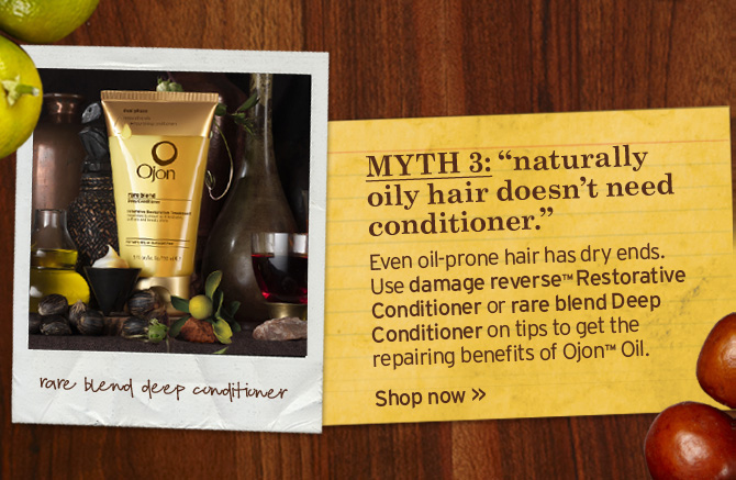 MYTH 3 naturally oily does not need conditioner Even oil prone has  dry ends Use damage reverse Restorative Conditioner or rare blend Deep  Conditioner on tips to get the repairing benefits of Ojon Oil Shop now