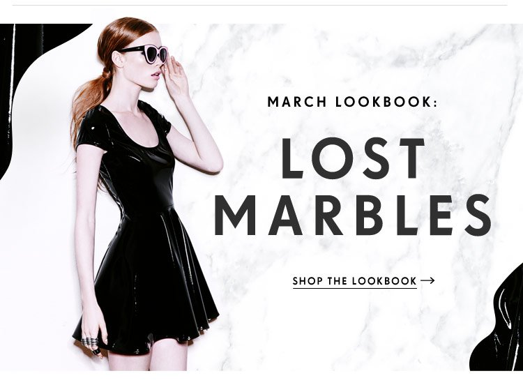 Shop our March Lookbook, Lost Marbles