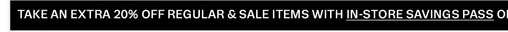 Take an extra 20% off regular & sale items with savings pass