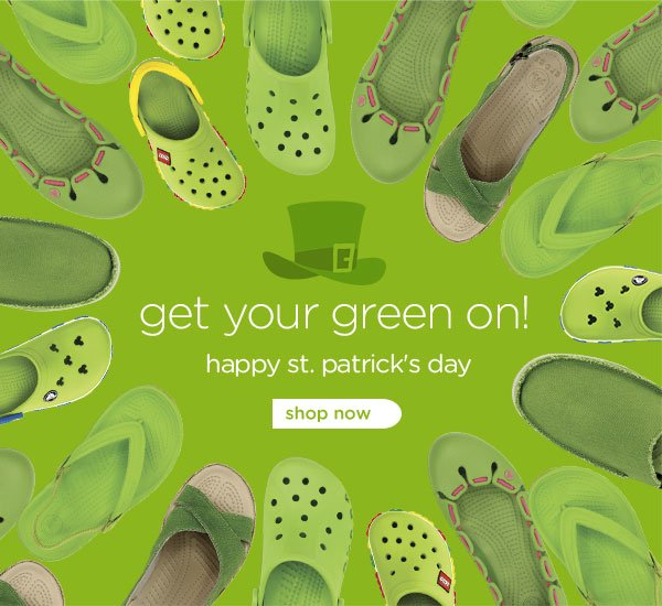 get your green on! happy st. patrick's day! shop now