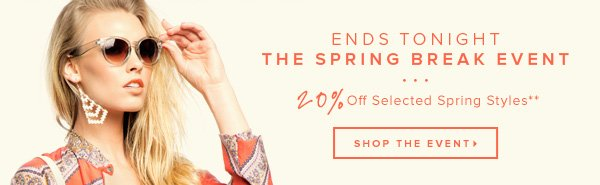 Last Day for 20% Off Spring Break Boutique** >