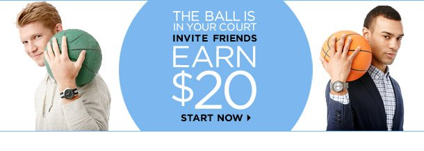 The Ball Is In Your Court: Invite Friends, Earn $20