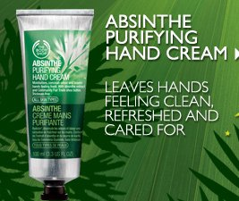 ABSINTHE PURIFYING HAND CREAM -- Leaves hands feeling clean, refreshed and cared for
