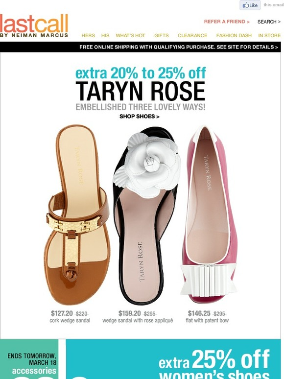 c238cc24ff76 Last Call by Neiman Marcus  Extra 20%-25% Off Taryn Rose