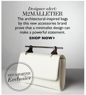 DESIGNER ALERT: M2MALLETIER The architectural-inspired bags by this new accessories brand prove that a minimalist design can make a powerful statement.