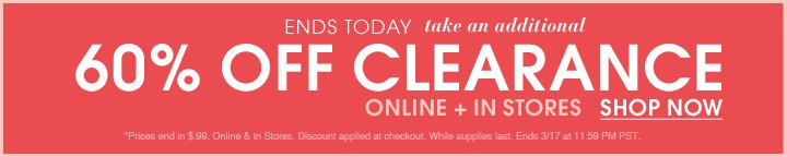 Additional 60% Off Clearance - Shop Now