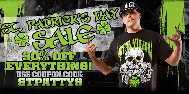 St Patty's Day Sale!