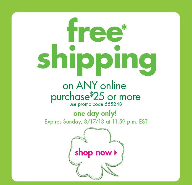 free* shipping