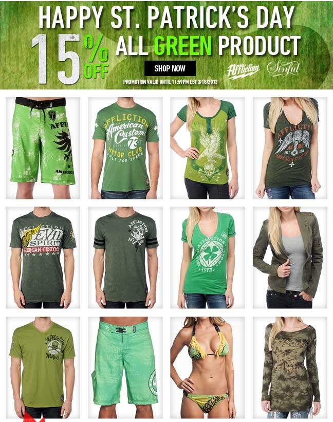 15% Off All Green Product