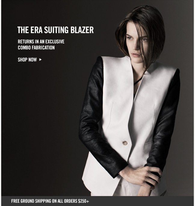 THE ERA SUITING BLAZER - Returns in an exclusive combo fabrication - Shop NOW