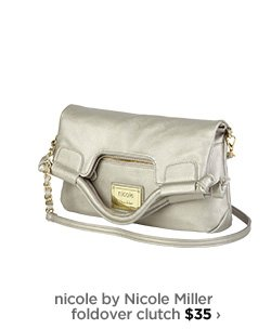 nicole by Nicole Miller foldover clutch $35 ›
