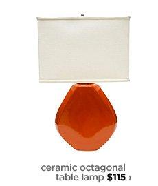 ceramic octagonal table lamp $115 ›
