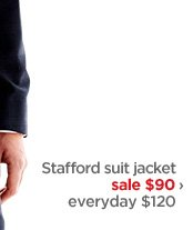 Stafford suit jacket sale $90 › everyday $120