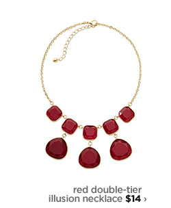red double–tier illusion necklace $14 ›