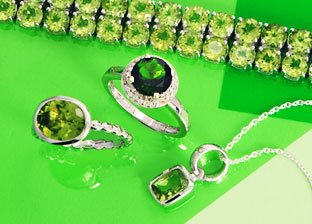 Charm in Green & Silver Jewelry