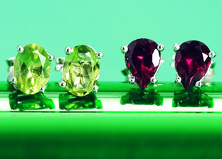 Colorize: Gemstone Stud Earrings