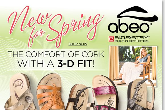 The must-have sandals for spring, slip into the legendary comfort of cork with the new ABEO B.I.O.system cork sandal arrivals. Lightweight and durable, the collection features a revolutionary 3-D fit matched to your specific arch height and type. Shop now for the best selection at The Walking Company.
