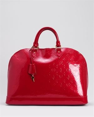 Louis Vuitton LU Limited Edition Pomme D'Amour Monogram Vernis Alma GM Satchel $1,799