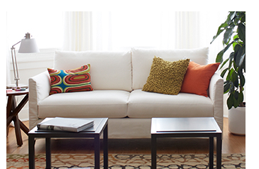 Klyne Slipcovered Apartment Sofa $1104.15  Reg. $1299.