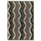 Multicolored Wave Wool Rug