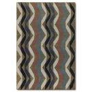 Multicolored Wave Wool Rug