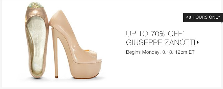 Up To 70% Off* Giuseppe Zanotti...Shop Now