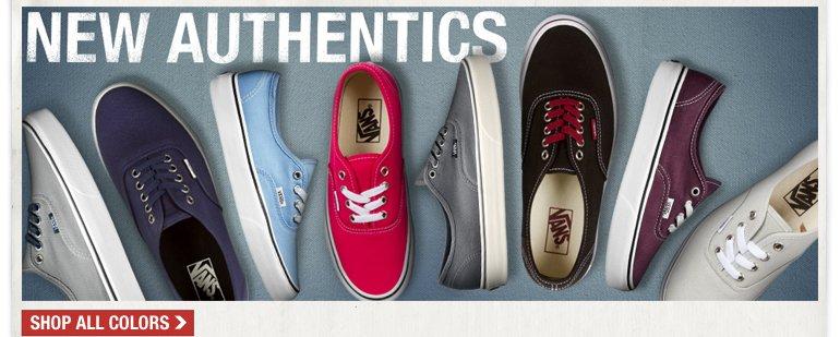 VANS New Authentics Colors