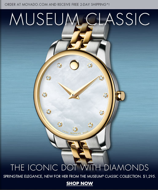 MUSEUM CLASSIC - ORDER AT MOVADO.COM AND RECEIVE FREE 2-DAY SHIPPING*!