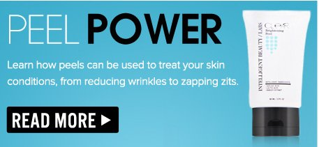 Peel Power Learn how peels can be used to treat your skin conditions, from reducing wrinkles to zapping zits. Read More>>