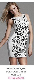 Bead Baroque Bodycon Dress