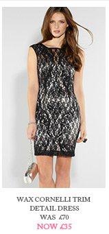 Wax Cornelli Trim Detail Dress
