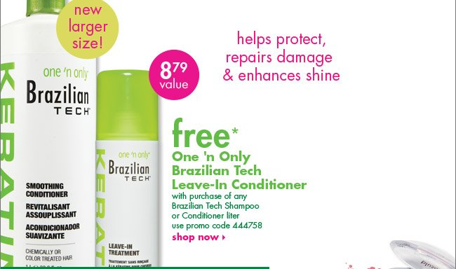 free* One 'n Only  Brazilian Tech  Leave-In Conditioner