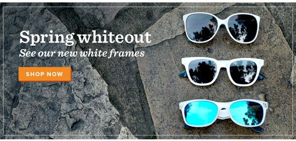 Spring whiteout - see our new white frames