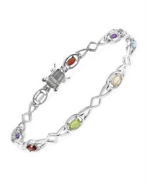 Ladies Peridot Bracelet Designed In 925 Sterling Silver $19