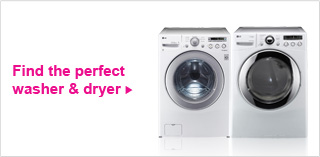 Finda the perfect washer and dryer