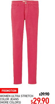 WOMEN ULTRA STRETCH COLOR JEANS