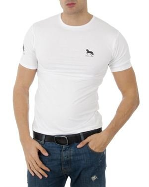Polo Club Two-Tone Logo Emblem Embellished T-Shirt Made in Spain